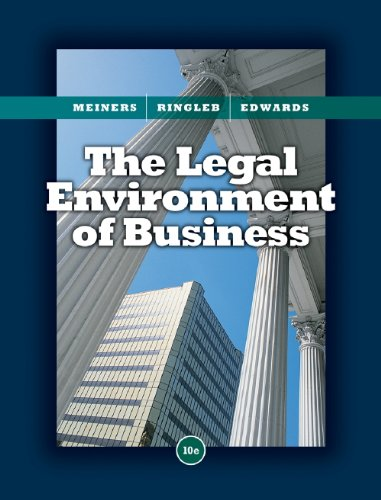 9780324654370: Study Guide for Meiners/Ringleb/Edwards' The Legal Environment of Business, 10th