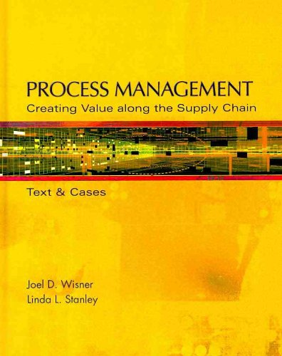 9780324654714: Process Management: Creating Value Along the Supply Chain (Book Only)