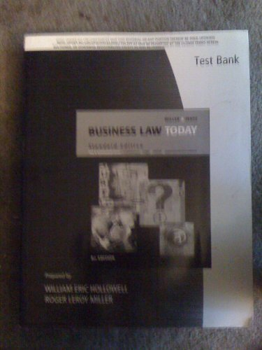 9780324655179: Business Law Today Test Bank