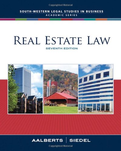 9780324655209: Real Estate Law (South-Western Legal Studies in Business Academic)