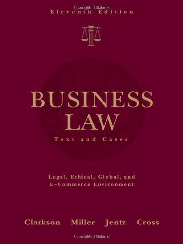 9780324655223: Business Law: Text and Cases (Available Titles CengageNOW)