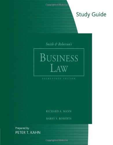 9780324655391: Study Guide for Smith and Roberson's Business Law, 14th