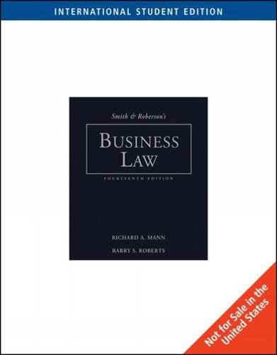 9780324655414: Smith and Roberson's Business Law, International Edition