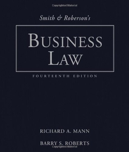9780324655520: Smith and Roberson's Business Law