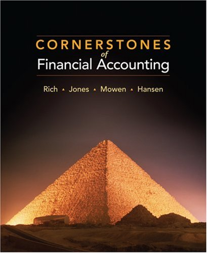 9780324657739: Cornerstones of Financial Accounting (Available Titles CengageNOW)