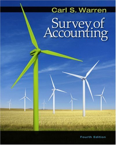 9780324658262: Survey of Accounting (Available Titles CengageNOW)