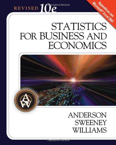 9780324658378: Statistics for Business and Economics, 10th Revised Edition (Available Titles Aplia)