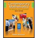 9780324658590: Contemporary Mathematics for Business and Consumers, Brief Edition (Book Only)