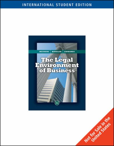 9780324659320: The Legal Environment of Business, International Edition