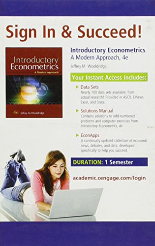 9780324660609: Introductory Econometrics: A Modern Approach, 4th Edition