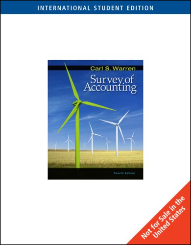 9780324660692: Survey of Accounting (4th International Edition)
