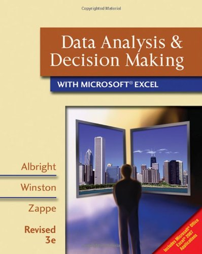 9780324662443: Data Analysis and Decision Making with Microsoft Excel: With Decision Tools and Statistic Tools Suite