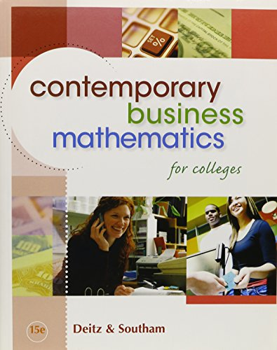 9780324663150: Contemporary Business Mathematics for Colleges (Book Only)