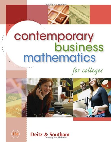 9780324663167: Contemporary Business Mathematics for Colleges (with CD-ROM)