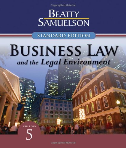 9780324663525: Business Law and the Legal Environment, Standard Edition