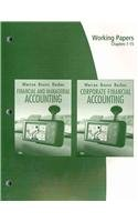 9780324664669: Working Papers, Chapters 1-15 for Warren/Reeve/Duchac's Corporate Financial Accounting, 10th and Financial & Managerial Accounting, 10th