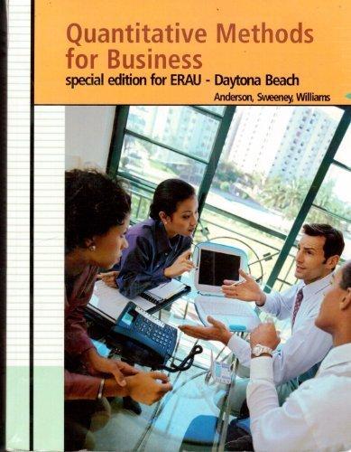 9780324680706: Quantitative Methods for Business (Special Edition for ERAU)