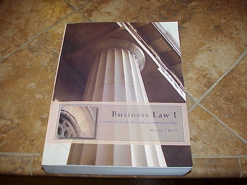 9780324690040: Business Law I Custom Edition for Riverside Community College