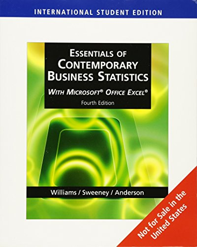 9780324785043: Essentials of Contemporary Business Statistics , International Edition (with Online Material Printed Access Card and Microsoft® Office Excel®)