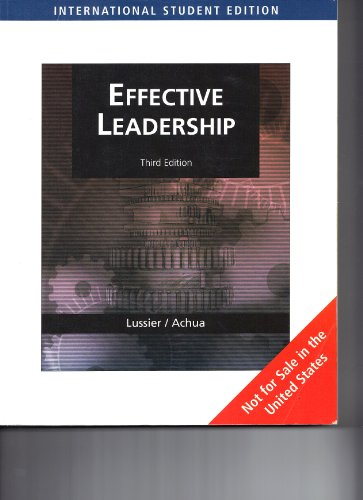 9780324785364: Effective Leadership (Int'l Edition)