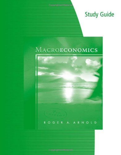 9780324785531: Study Guide for Arnold's Macroeconomics