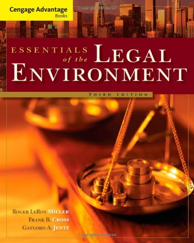 9780324786149: Cengage Advantage Books: Essentials of the Legal Environment