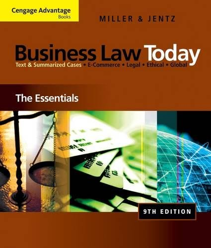 9780324786156: Cengage Advantage Books: Business Law Today: The Essentials