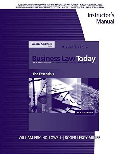 9780324786361: Im Bus Law Today Essentials