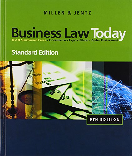 9780324786521: Business Law Today, Standard Edition (Available Titles CengageNOW)