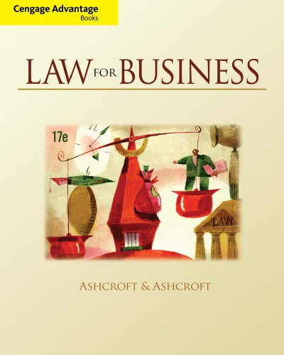 Cengage Advantage Books: Law for Business: John D. Ashcroft,