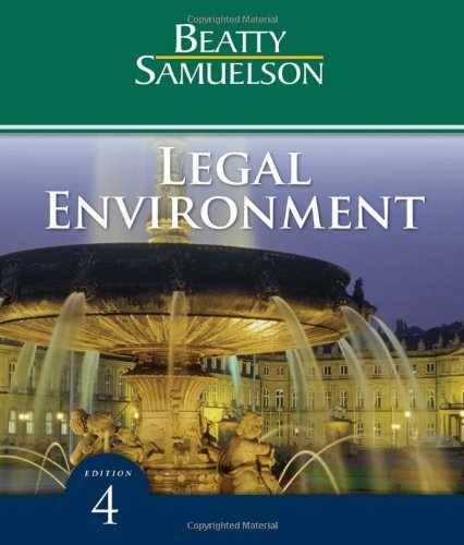 9780324786545: Legal Environment (Available Titles CengageNOW)