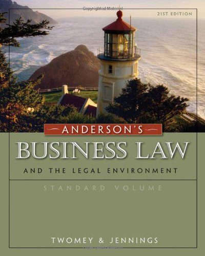 Anderson's Business Law and the Legal Environment: Twomey, David P./
