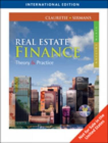 9780324787368: Real Estate Finance: Theory and Practice
