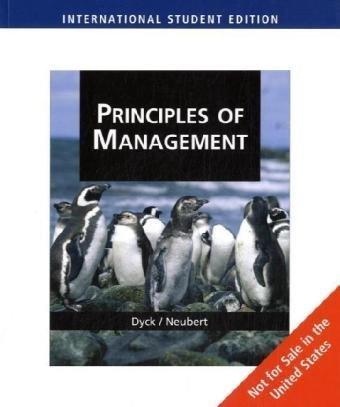 9780324789188: Principles of Management, International Edition