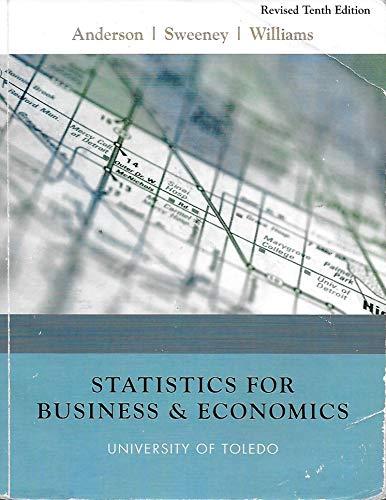 9780324809268: Statistics for Business and Economics (University of Toledo)