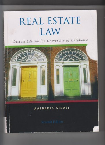 9780324812855: Real Estate Law (Custom Edition for University of Oklahoma 7th Edition)
