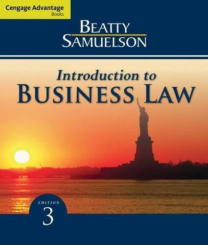 Cengage Advantage Books: Introduction to Business Law: Beatty, Jeffrey F.;