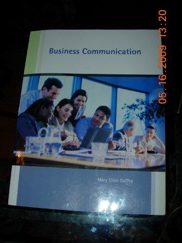 Business Communication: Mary Ellen Guffey