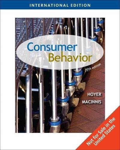 9780324834277: Consumer Behavior, International Edition (Fifth Edition)