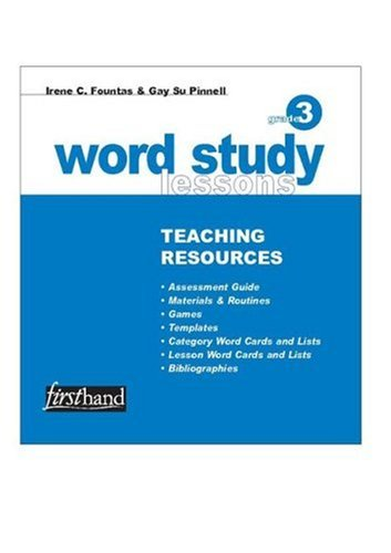 9780325006147: Word Study Lessons Teaching Resources: Grade 3: Phonics, Spelling, and Vocabulary