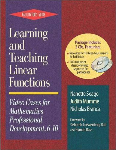 9780325006826: Learning and Teaching Linear Functions: Video Cases for Mathematics Professional Development, 6-10/Facilitator's Guide