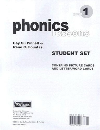 9780325006925: Phonics Lessons Student Set: Grade 1