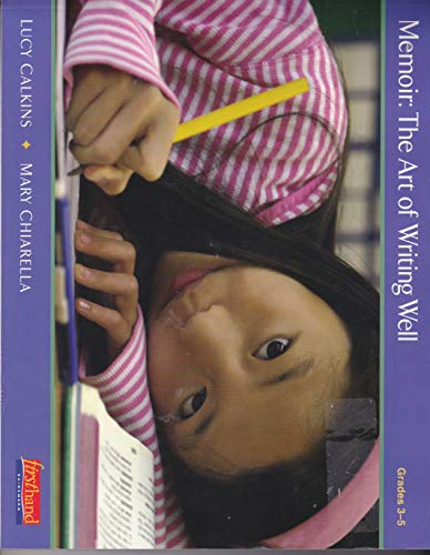 9780325008677: Memoir: The Art of Writing Well Grades 3-5