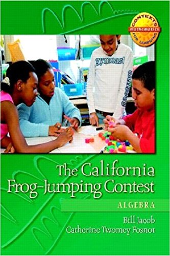 9780325010243: The California Frog-Jumping Contest: Algebra (Contexts for Learning Mathematics,Grades 4-6: Investigating Fractions, Decimals, and Percents)