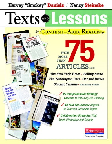 9780325030876: Texts and Lessons for Content-Area Reading: With More Than 75 Articles from the New York Times, Rolling Stone, the Washington Post, Car and Driver, Ch