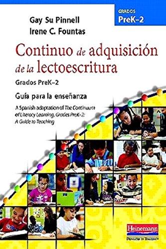 9780325031255: Continuo de Adquisicion de la Lectoescritura, Grados PreK-2: Guia Para la Ensenanza