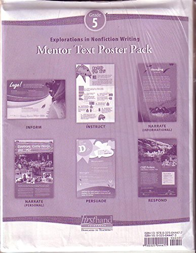 9780325044477: Explorations in Nonfiction Writing: Mentor Text Poster (6) Pack Grade 5