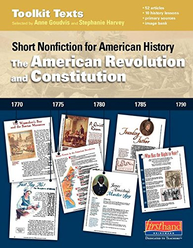 9780325048826: The American Revolution and Constitution: Short Nonfiction for American History (Comprehension Toolkit)