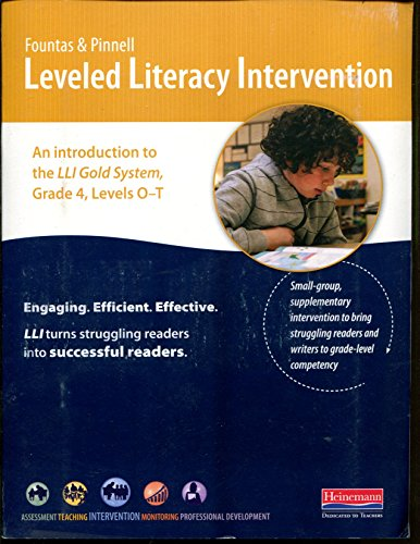 9780325048918: Leveled Literacy Intervention Introduction to LLI Gold System, Grade 4 Levels O-T