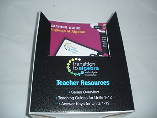 9780325057903: Transition to Algebra: Teacher Resources